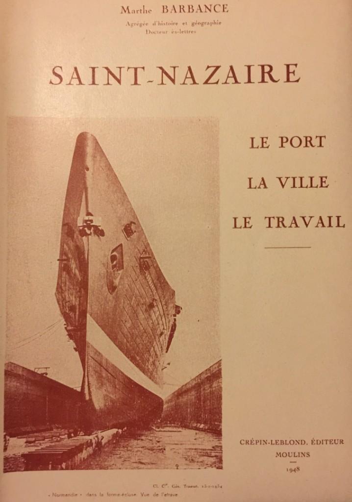 Couverture Marthe Barbance Saint-Nazaire le port la ville le travail