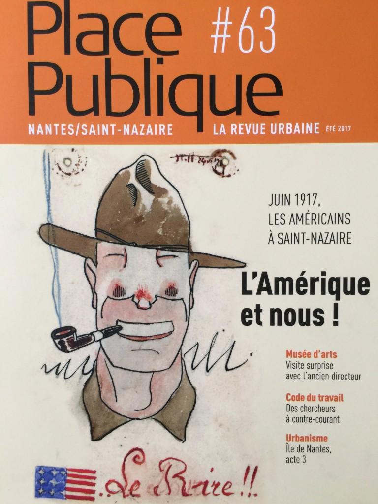 place publique sur les américains à Saint-Nazaire